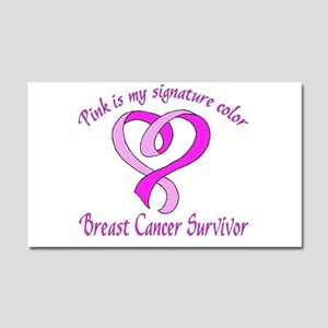 Pink is my signature color Car Magnet 20 x 12