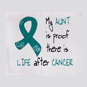 teal aunt life Throw Blanket