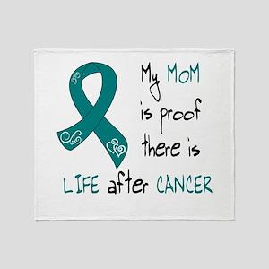 teal mom life Throw Blanket