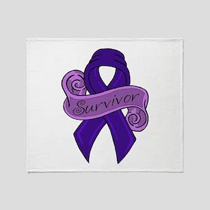Sketch colon survivor Throw Blanket