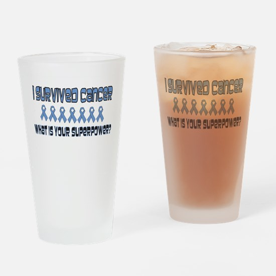 Lt Blue Superpower.png Drinking Glass