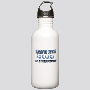 Lt Blue Superpower Stainless Water Bottle 1.0L