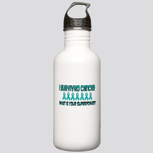 Teal Superpower Stainless Water Bottle 1.0L