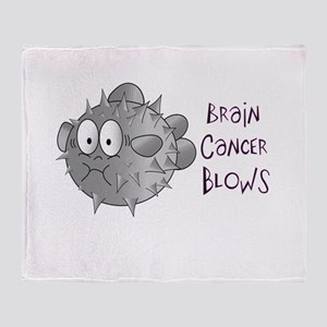 Brain Cancer Blows Throw Blanket
