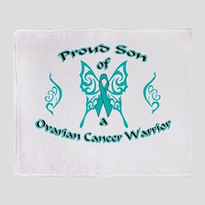 Proud Son Ovarian Warrior Throw Blanket