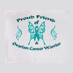 Proud Friend Ovarian Warrior Throw Blanket