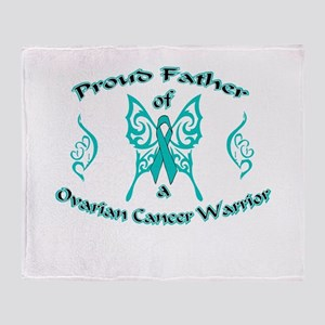 Proud Father Ovarian Warrior Throw Blanket