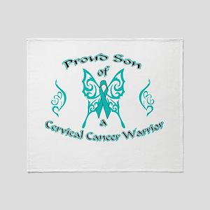 Proud Son Cervical Warrior Throw Blanket