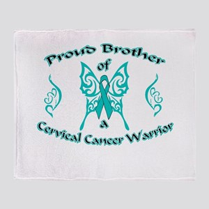 Proud Brother Cervical Warrior Throw Blanket