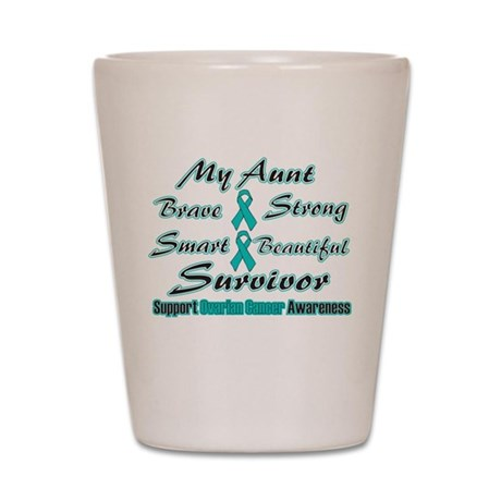 Teal Aunt Words.png Shot Glass