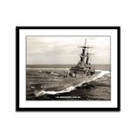 USS MISSISSIPPI Framed Panel Print