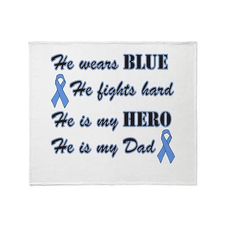 He is Dad Lt Blue Hero Throw Blanket
