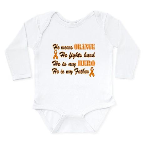 He is Father Orange Hero.png Long Sleeve Infant Bo
