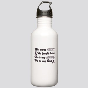 He is Son Grey angel Stainless Water Bottle 1.