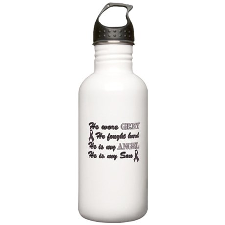 He is Son Grey angel.png Stainless Water Bottle 1.