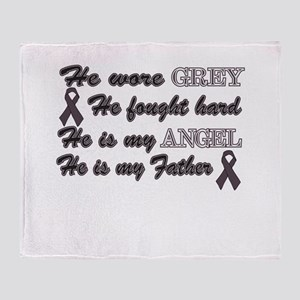 He is Father Grey angel Throw Blanket
