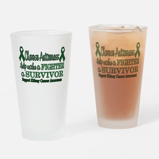 Kidney Fighter Survivor.png Drinking Glass