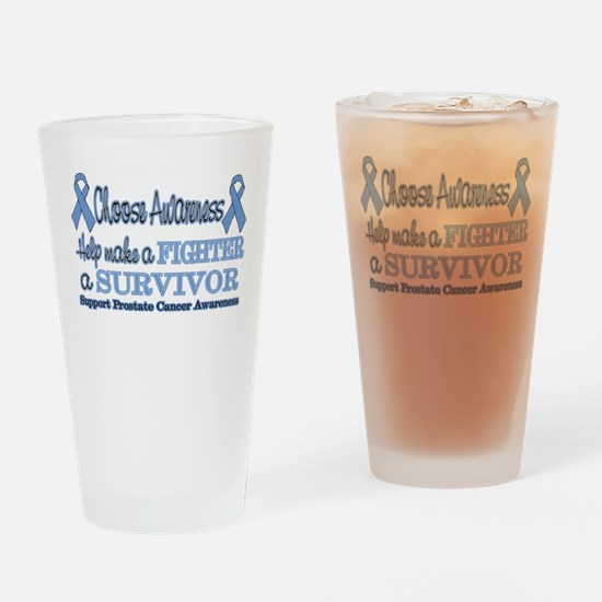 Prostate Fighter Survivor.png Drinking Glass