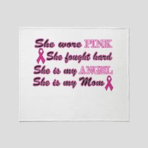 She is Mom breast angel Throw Blanket