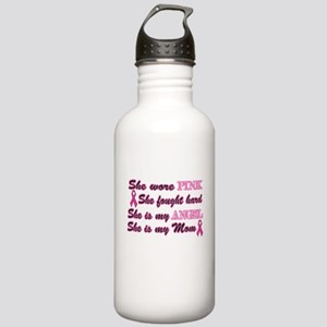 She is Mom breast angel Stainless Water Bottle