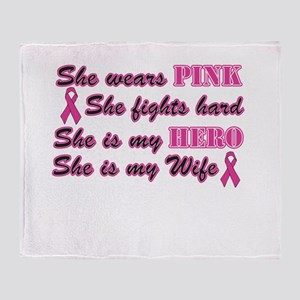 She is Wife breast Throw Blanket