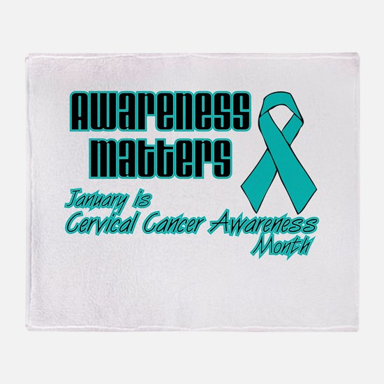 Cervical Awareness Matters.png Throw Blanket