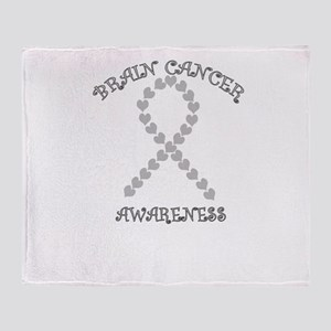 Brain Heart Awareness Throw Blanket