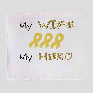 Hero Wife Peach Throw Blanket