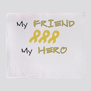 Hero Friend Peach Throw Blanket