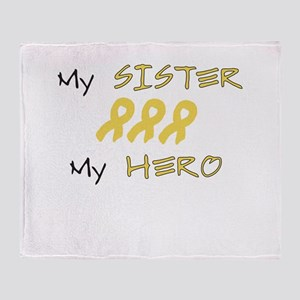 Hero Sister Peach Throw Blanket
