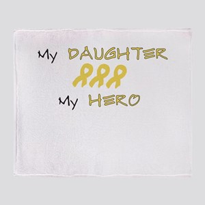 Hero Daughter Peach Throw Blanket