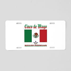 Cinco De Mayo Mason Aluminum License Plate
