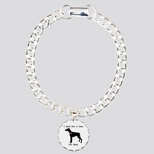 Doberman Personalizable I Bark For A Cure Charm Br