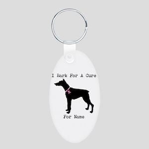 Doberman Personalizable I Bark For A Cure Aluminum