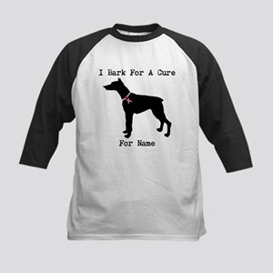 Doberman Personalizable I Bark For A Cure Kids Bas