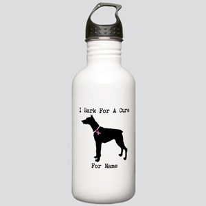 Doberman Personalizable I Bark For A Cure Stainles