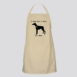 Doberman Personalizable I Bark For A Cure Apron