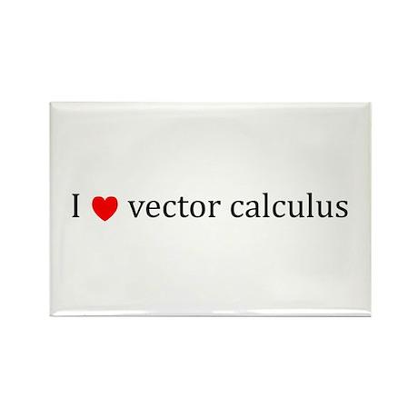 I heart vector calculus Rectangle Magnet