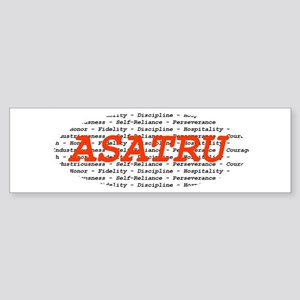 Asatru Virtues Bumper Sticker