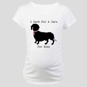 Dachshund Personalizable I Bark For A Cure Materni