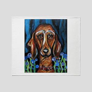 Portrait of a Dachshund Throw Blanket