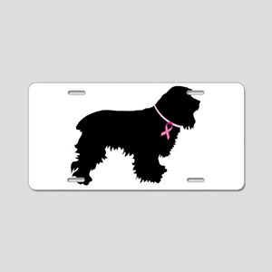 Cocker Spaniel Breast Cancer Support Aluminum Lice