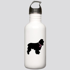 Cocker Spaniel Breast Cancer Support Stainless Wat