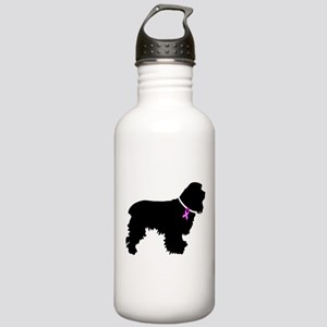 Cocker Spaniel Breast Cancer Stainless Water Bottl