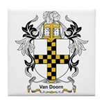 Van Doorn Coat of Arms Tile Coaster