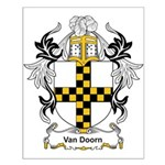 Van Doorn Coat of Arms Small Poster