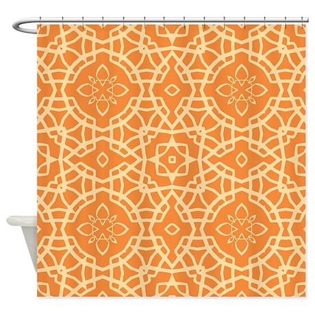 Orange Jubilee Shower Curtain