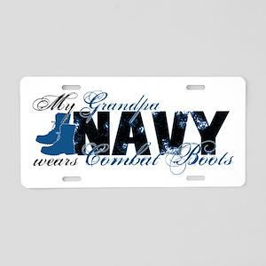 Grandpa Combat Boots - NAVY Aluminum License Plate