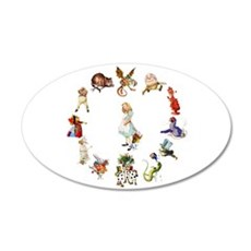Alice Through The Looking Glass 22x14 Oval Wall Pe
