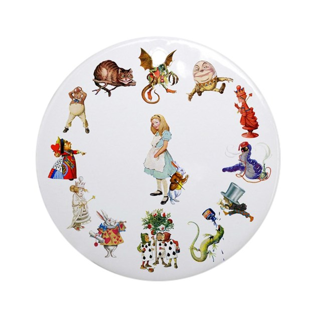 Baptism Ornament Round Glass: Alice Through The Looking Glass Ornament (Round) By
